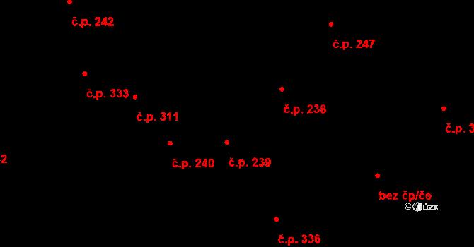 Žiželice 239 na parcele st. 54 v KÚ Žiželice nad Cidlinou, Katastrální mapa