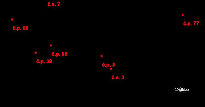Díly 3 na parcele st. 198/1 v KÚ Díly, Katastrální mapa