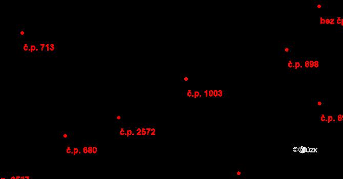 Jihlava 1003 na parcele st. 1674/17 v KÚ Jihlava, Katastrální mapa