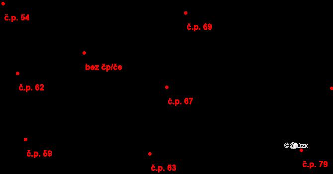 Sedlejov 67 na parcele st. 72/1 v KÚ Sedlejov, Katastrální mapa
