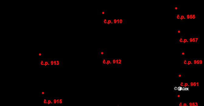 Modřice 912 na parcele st. 1605/167 v KÚ Modřice, Katastrální mapa
