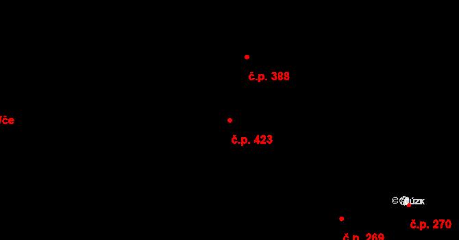 Pustkovec 423, Ostrava na parcele st. 3835/38 v KÚ Pustkovec, Katastrální mapa