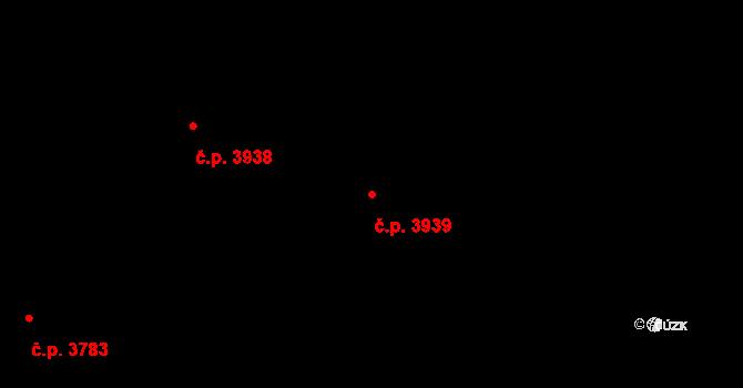 Havlíčkův Brod 3939 na parcele st. 7430 v KÚ Havlíčkův Brod, Katastrální mapa