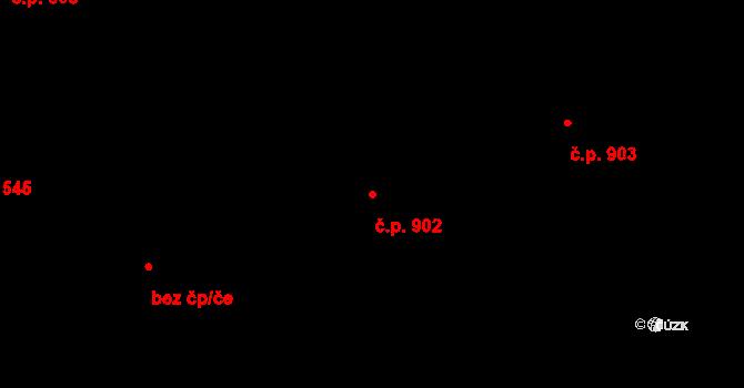 Liberec XV-Starý Harcov 902, Liberec na parcele st. 876/9 v KÚ Starý Harcov, Katastrální mapa