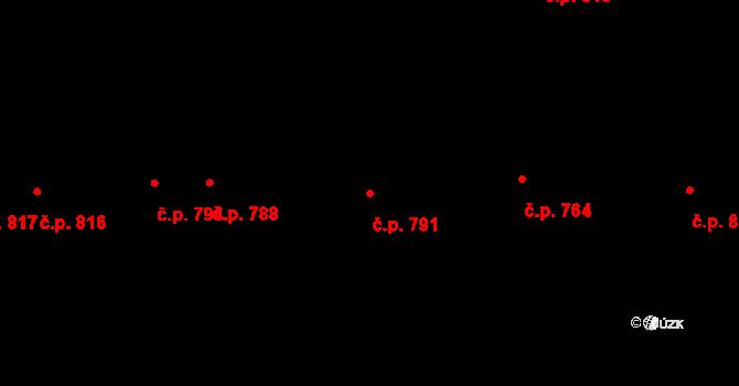 Litice 791, Plzeň na parcele st. 2982 v KÚ Litice u Plzně, Katastrální mapa