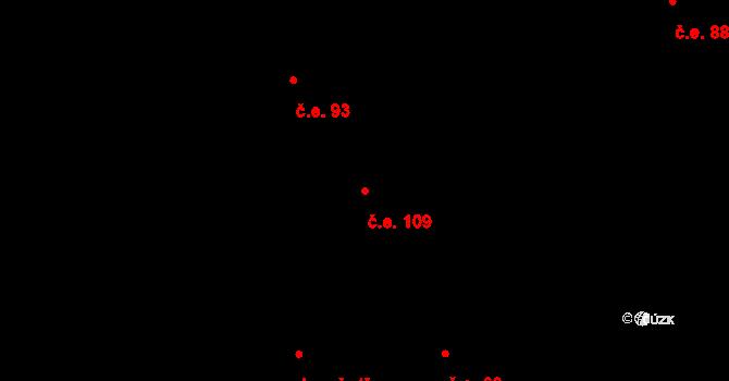 Prštné 109, Zlín na parcele st. 1193 v KÚ Prštné, Katastrální mapa