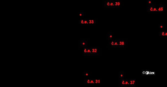 Prštné 32, Zlín na parcele st. 828 v KÚ Prštné, Katastrální mapa