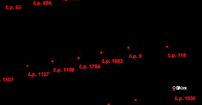 Žižkov 1883, Praha na parcele st. 1945 v KÚ Žižkov, Katastrální mapa