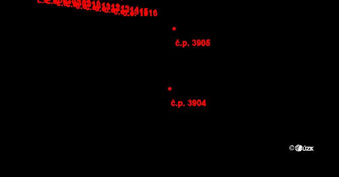 Zlín 3904 na parcele st. 4764 v KÚ Zlín, Katastrální mapa