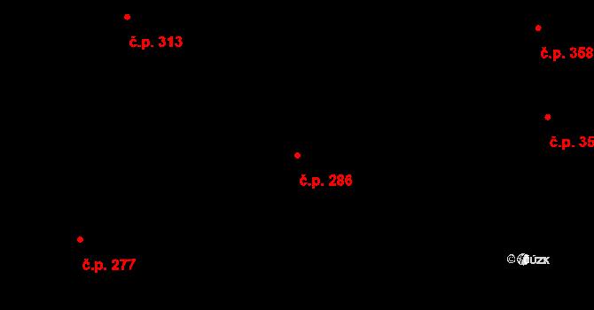 Valcha 286, Plzeň na parcele st. 3133 v KÚ Valcha, Katastrální mapa