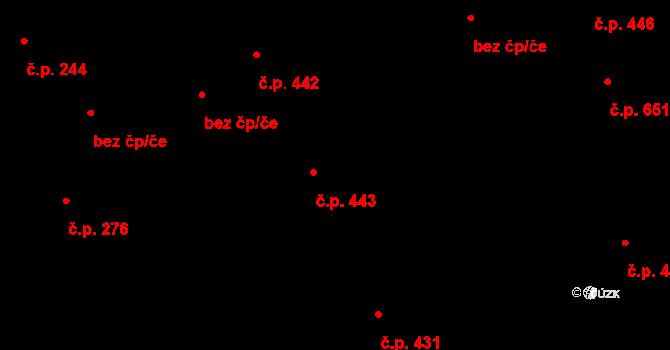 Klatovy IV 443, Klatovy na parcele st. 6454 v KÚ Klatovy, Katastrální mapa