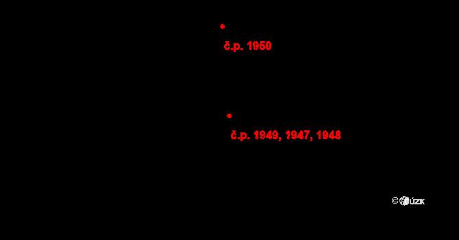 Stodůlky 1947,1948,1949, Praha na parcele st. 2131/251 v KÚ Stodůlky, Katastrální mapa