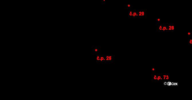 Žešov 25, Prostějov na parcele st. 31/1 v KÚ Žešov, Katastrální mapa