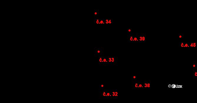 Prštné 33, Zlín na parcele st. 829 v KÚ Prštné, Katastrální mapa