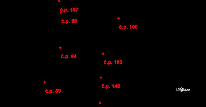 Kokory 163 na parcele st. 183/1 v KÚ Kokory, Katastrální mapa