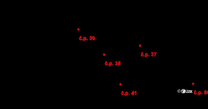 Vranová Lhota 38 na parcele st. 32 v KÚ Vranová Lhota, Katastrální mapa