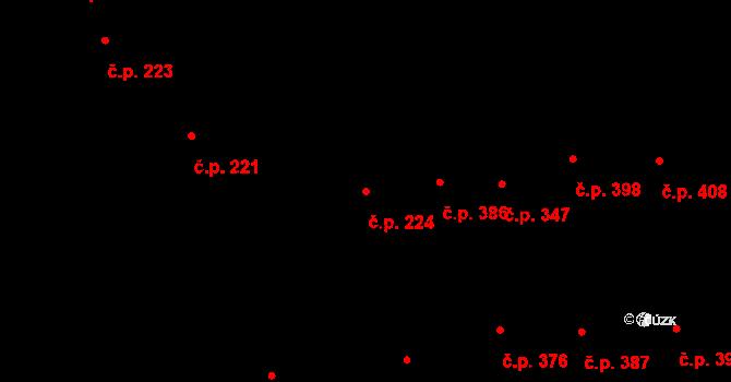 Nivnice 224 na parcele st. 2364 v KÚ Nivnice, Katastrální mapa