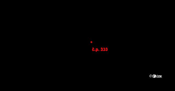 Luka nad Jihlavou 333 na parcele st. 363 v KÚ Luka nad Jihlavou, Katastrální mapa