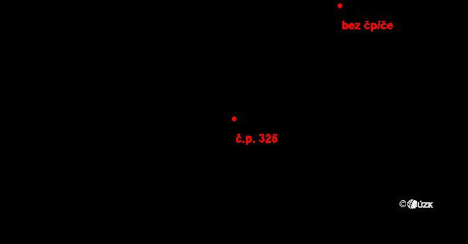 Hradec nad Svitavou 325 na parcele st. 244/1 v KÚ Hradec nad Svitavou, Katastrální mapa
