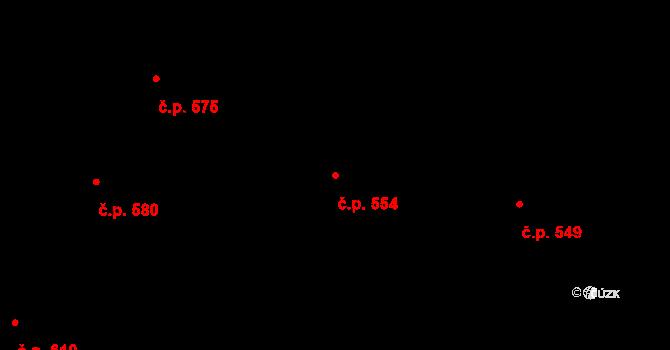 Mladcová 554, Zlín na parcele st. 981 v KÚ Mladcová, Katastrální mapa