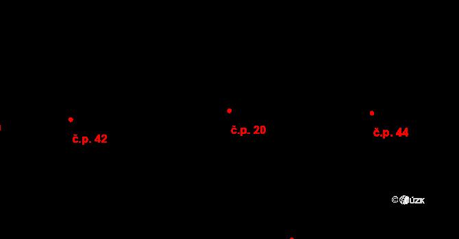 Nový Dvůr 20 na parcele st. 260 v KÚ Nový Dvůr u Oskořínka, Katastrální mapa