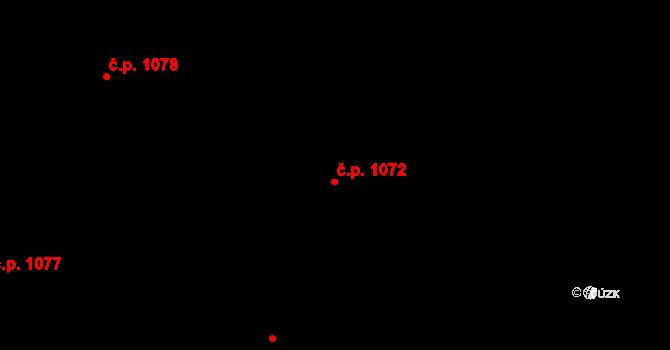 Nivnice 1072 na parcele st. 1981/46 v KÚ Nivnice, Katastrální mapa