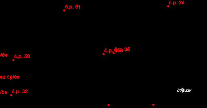 Osek 469 na parcele st. 77/2 v KÚ Osek u Rokycan, Katastrální mapa