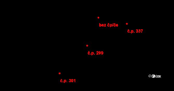 Staré Sedlo 299 na parcele st. 489/5 v KÚ Staré Sedlo u Sokolova, Katastrální mapa