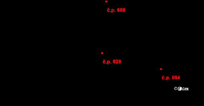 Mladcová 628, Zlín na parcele st. 1079 v KÚ Mladcová, Katastrální mapa