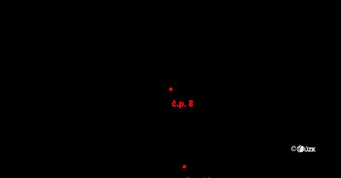 Časy 8 na parcele st. 18/1 v KÚ Časy, Katastrální mapa