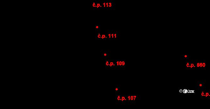Ponava 109, Brno na parcele st. 452 v KÚ Ponava, Katastrální mapa