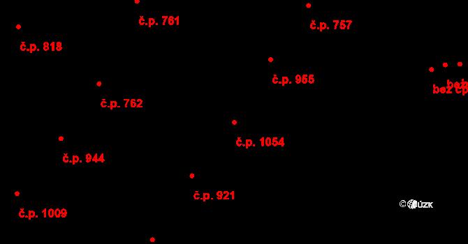 Žižkov 1054, Praha na parcele st. 77 v KÚ Žižkov, Katastrální mapa