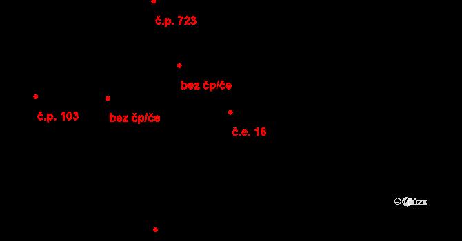 Lipence 16, Praha na parcele st. 260 v KÚ Lipence, Katastrální mapa