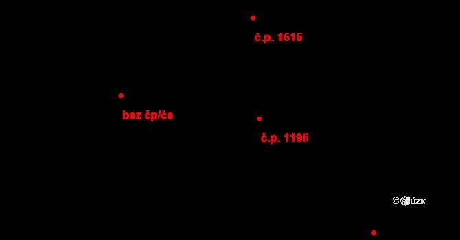 Nové Město 1195, Praha na parcele st. 370/2 v KÚ Nové Město, Katastrální mapa