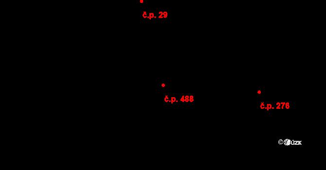 Radvanice 488, Ostrava na parcele st. 2114 v KÚ Radvanice, Katastrální mapa