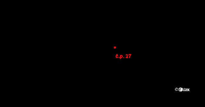 Kamenný Most 27 na parcele st. 13 v KÚ Kamenný Most, Katastrální mapa
