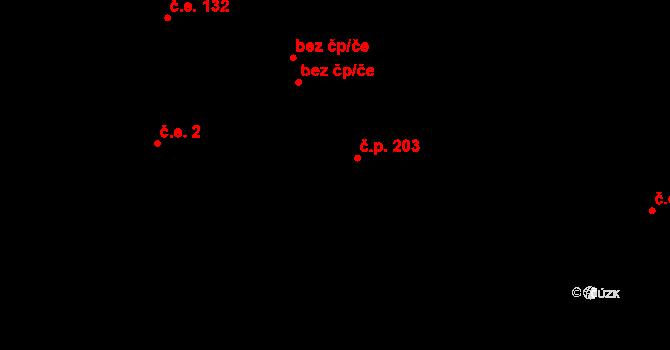 Davle 203 na parcele st. 816 v KÚ Davle, Katastrální mapa