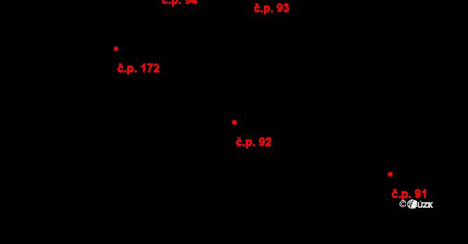 Brno-město 92, Brno na parcele st. 533 v KÚ Město Brno, Katastrální mapa