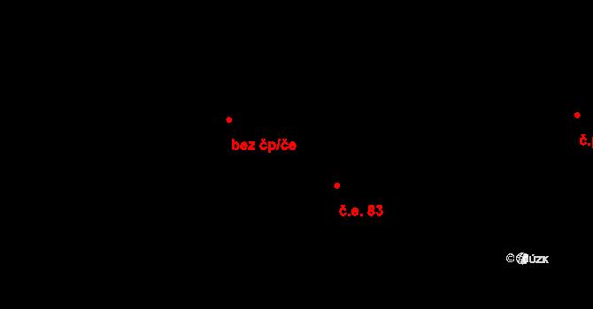 Sloup 83, Davle na parcele st. 147/76 v KÚ Davle, Katastrální mapa
