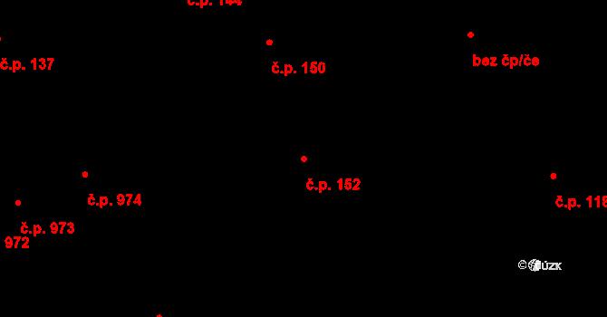 Černovice 152, Brno na parcele st. 80/1 v KÚ Černovice, Katastrální mapa