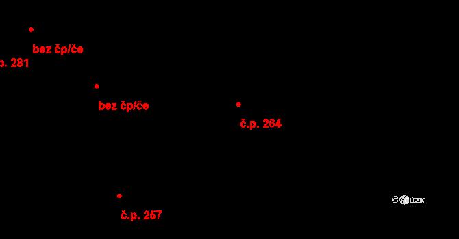 Vysoké Pole 264 na parcele st. 564 v KÚ Vysoké Pole, Katastrální mapa