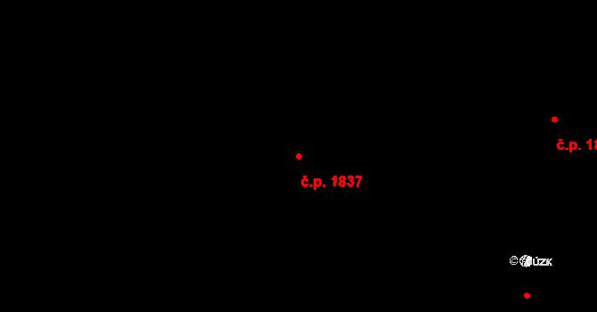 Bílé Předměstí 1837, Pardubice na parcele st. 10518 v KÚ Pardubice, Katastrální mapa