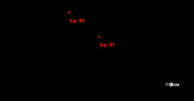 Jaroslav 61 na parcele st. 169 v KÚ Jaroslav, Katastrální mapa
