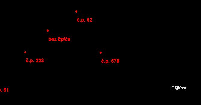 Štípa 678, Zlín na parcele st. 612/2 v KÚ Štípa, Katastrální mapa