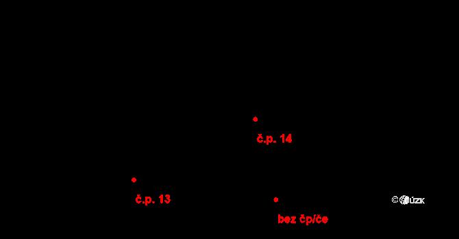 Bylochov 14, Snědovice na parcele st. 31 v KÚ Bylochov, Katastrální mapa