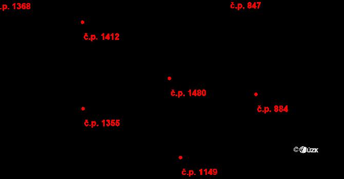Kylešovice 1480, Opava na parcele st. 736/44 v KÚ Kylešovice, Katastrální mapa