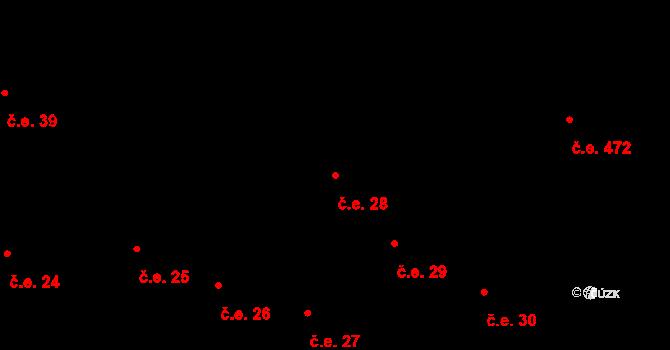Buková Lhota 28, Benešov na parcele st. 318 v KÚ Úročnice, Katastrální mapa