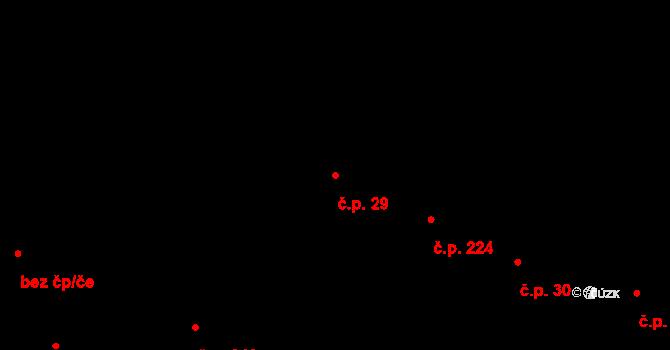 Slavonice 29 na parcele st. 380/2 v KÚ Slavonice, Katastrální mapa