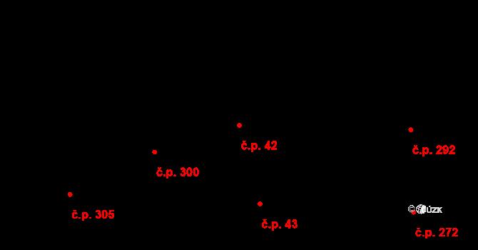 Hradčany 42, Praha na parcele st. 486 v KÚ Hradčany, Katastrální mapa