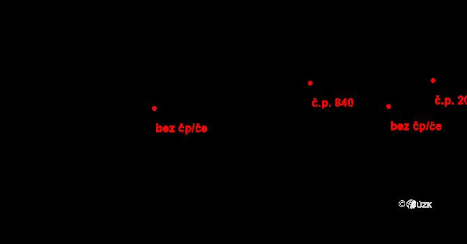 Chrudim III 840, Chrudim na parcele st. 913/3 v KÚ Chrudim, Katastrální mapa